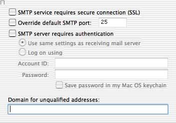 Advanced sending options