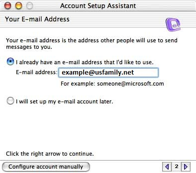 Enter your USFamily.net e-mail address.